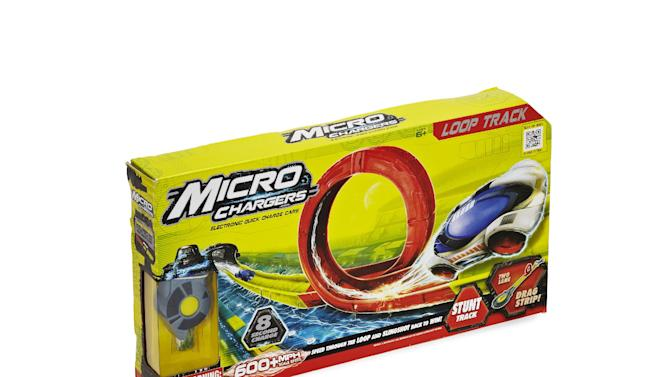 This product image released by Good Housekeeping shows a Moose Toys Micro Chargers Loop Track. The toy has made it onto the Good Housekeeping's annual Best Toys list for 2012. Engineers reviewed hundreds of toys for safety and educational merits. But the true test comes from 140 kids, ages 3 to 13, who play with the top 135 new toys at the magazine's product-testing laboratory in New York. (AP Photo/Good Housekeeping, Marko Metzinger of Studio D)