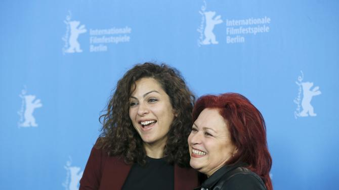 Actresses Ben Messaoud and Bouzouita during a photocall at 66th Berlinale International Film Festival in Berlin
