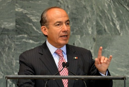 &lt;p&gt;Mexican President Felipe Calderon, pictured in September 2012, signed a new law on Tuesday to crack down on money laundering, which a minister estimated at around $10 billion per year.&lt;/p&gt;
