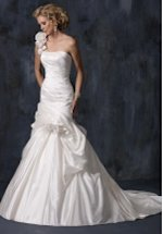 A Line Floor Length Attached Silk Wedding Dress Style Summer