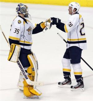 Weber's power-play goal sends Predators past Stars