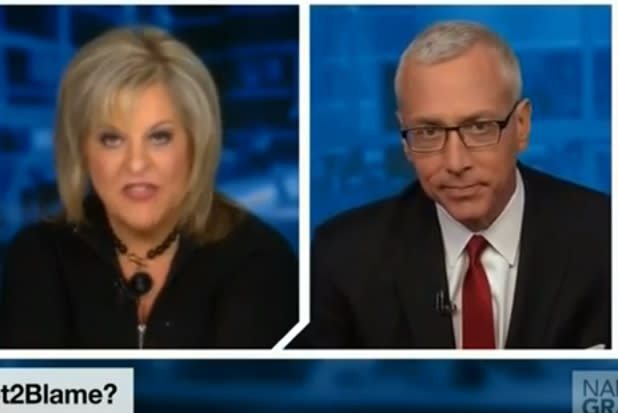 Nancy Grace Battles Dr. Drew Over Pot: 'You're in Our House Now' (Video)