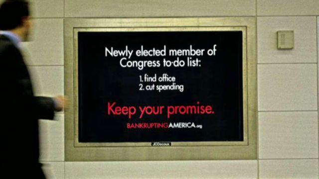 Group confronts lawmakers on spending crisis