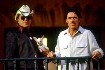 Mickey Rourke and Willem Dafoe in Columbia's Once Upon a Time in Mexico