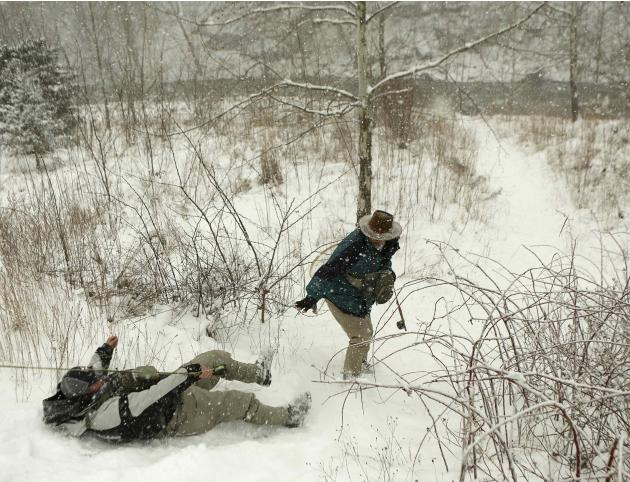 Man falls en route to fishing in winter blizzard in Hopeville Canyon West Virginia