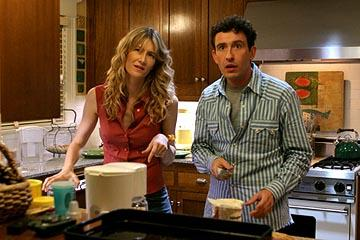 Laura Dern as Pam and Steve Coogan as Charley in Lions Gate's Happy Endings