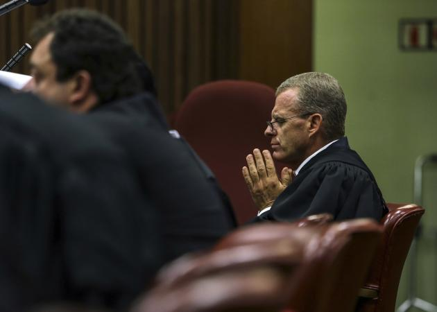 State prosecutor Nel attends the murder trial of Pistorius at the North Gauteng High Court in Pretoria