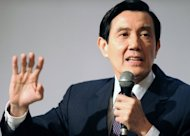 This file photo shows Taiwan President, Ma Ying-jeou, pictured in Taipei, in 2010. An article in British magazine The Economist branding Ma 'a bumbler' has set off a media storm on the island, causing even the opposition to give a rare show of support for him