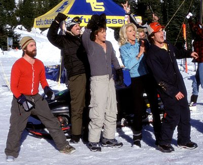 Zach Galifianakis , David Denman , Jason London , Victoria Silvstedt and Derek Hamilton in Touchstone's Out Cold