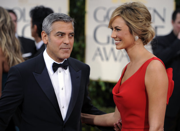 George Clooney and Stacy Keibler arrive at the 69th Annual Golden Globe ...