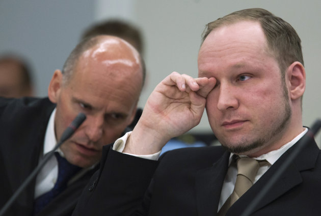 Anders Behring Breivik cries in Oslo court as trial begins - Yahoo ...
