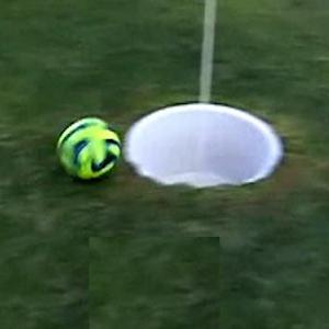 Soccer meets golf in 'footgolf'