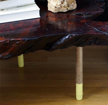Dip-Dyed Rope Table Legs