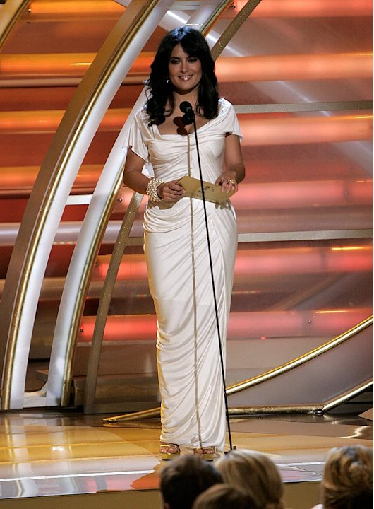 Salma Hayek at the 64th annual Golden Globe Awards.