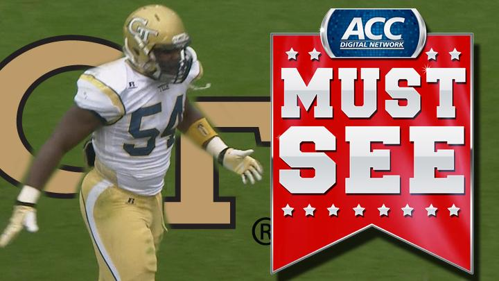 GT's Quayshawn Nealy Stretches Out for Interception | ACC Must See Moment