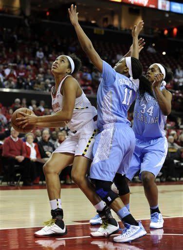 No. 10 Maryland beats No. 11 North Carolina 85-59