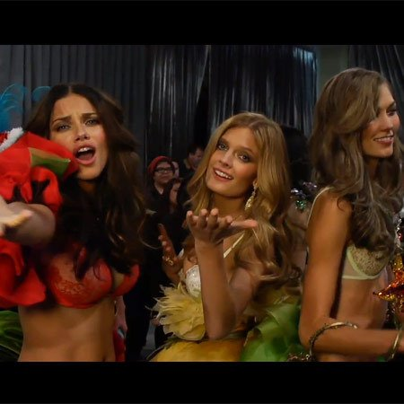 WATCH: Victoria's Secret angels and Justin Bieber lip sync Beauty and a beat