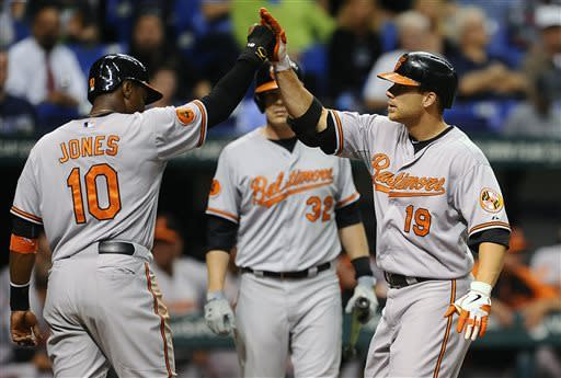 Davis' slam, 5 RBIs carry Orioles over Twins 9-5