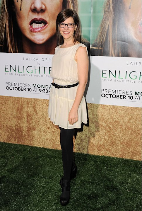 "Lisa Loeb arrives at the premiere of HBO's ""Enlightened&quot at Paramount Theater on October 6, 2011 in Hollywood, California."