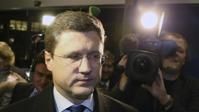 Russian Energy Minister Novak arrives for gas talks between the European Union, Russia and Ukraine at the EU Commission headquarters in Brussels