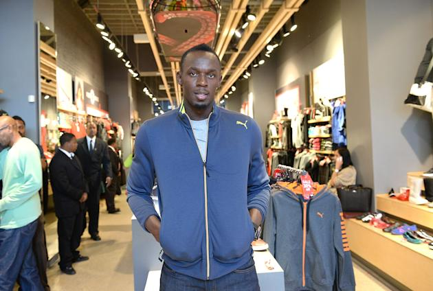 "PUMA Welcomes Usain Bolt For Book Signing Of His Autobiography ""Faster Than Lightening"" At The PUMA Store In Santa Monica"