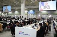 This file photo shows journalists working in the media centre of the G20 Summit in Seoul, in 2010. Hundreds of journalists at South Korea's leading news agency, Yonhap, have ended a three-month strike called to demand fair reporting free of political pressure, according to a union spokeswoman