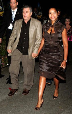 Robert De Niro and Grace Hightower at the New York premiere of Dreamworks' Shark Tale