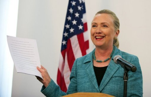 <p>US Secretary of State Hillary Clinton, seen here in Brunei on September 6, 2012, heads Friday to an Asia-Pacific summit torn by disputes between China and its neighbours after a tour aimed at unifying Southeast Asia.</p>