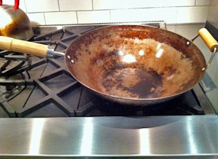 Wok this way: the author's beloved wok.