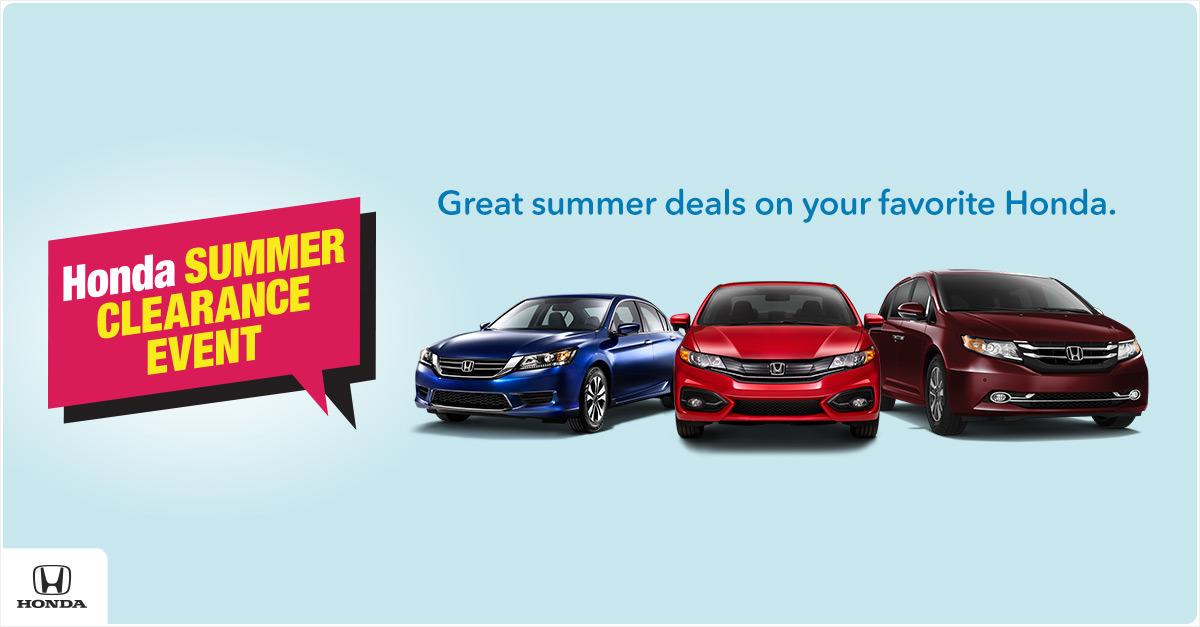 2015 Honda Summer Clearance Event