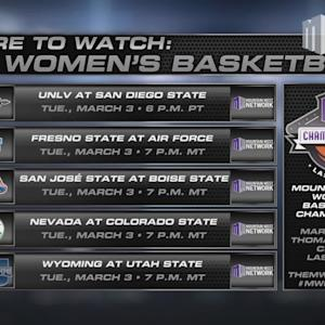 Where to Watch MW Women's Basketball 3/3/15