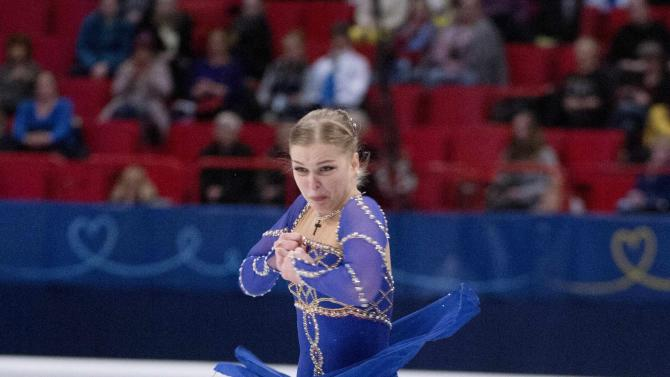 Slovakia's Rajicova performs during the women's short program at the European Figure Skating championships in Stockholm