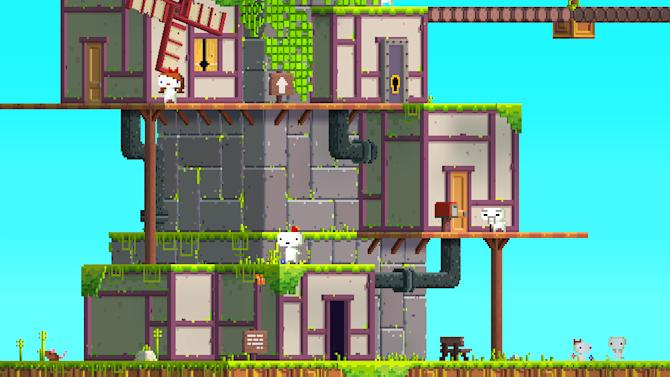 """In this video game image released by Microsoft, a scene is shown from """"Fez."""" (AP Photo/Microsoft)"""