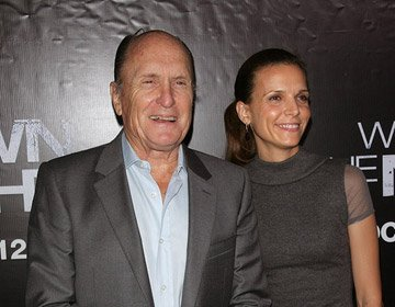Robert Duvall and wife at the New York premiere of Columbia Pictures' We Own the Night