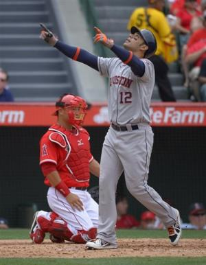 Astros beat Angels for 3rd straight time, 5-4