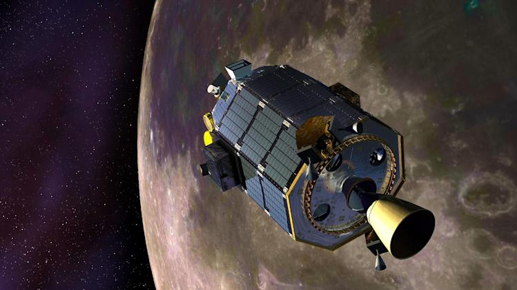 "In this artist's concept provided by NASA the Lunar Atmosphere and Dust Environment Explorer (LADEE) spacecraft is seen orbiting the moon as it prepares to fire its maneuvering thrusters to maintain a safe orbital altitude. NASA's small moon-orbiting spacecraft LADEE (pronounced LAH'-dee) is no more. Flight controllers confirmed early Friday April 18, 2014 that LADEE crashed into the back side of the moon. (AP Photo/NASA, Dana Berry) Credit: NASA Ames / Dana Berry ----- What is LADEE? The Lunar Atmosphere and Dust Environment Explorer (LADEE) is designed to study the Moon's thin exosphere and the lunar dust environment. An ""exosphere"" is an atmosphere that is so thin and tenuous that molecules don't collide with each other. Studying the Moon's exosphere will help scientists understand other planetary bodies with exospheres too, like Mercury and some of Jupiter's bigger moons. The orbiter will determine the density, composition and temporal and spatial variability of the Moon's exosphere to help us understand where the species in the exosphere come from and the role of the solar wind, lunar surface and interior, and meteoric infall as sources. The mission will also examine the density and temporal and spatial variability of dust particles that may get lofted into the atmosphere. The mission also will test several new technologies, including a modular spacecraft bus that may reduce the cost of future deep space missions and demonstrate two-way high rate laser communication for the first time from the Moon. LADEE now is ready to launch when the window opens on Sept. 6, 2013. Read more: http://www.nasa.gov/ladee  enables NASA's mission through four scientific endeavors: Earth Science, Heliophysics, Solar System Exploration, and Astrophysics. Goddard plays a lea"