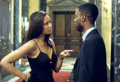 Garcelle Beauvais and Chris Rock in Touchstone's Bad Company