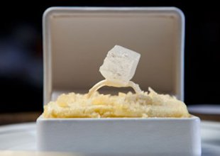 Edible engagement ring Marcel created for an engagement party.