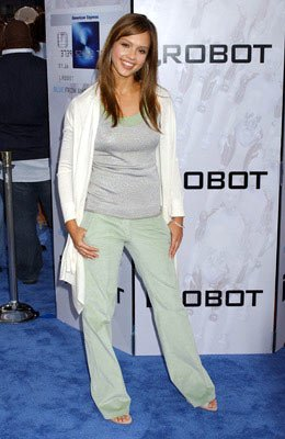 Jessica Alba at the Los Angeles premiere of Twentieth Century Fox's I, Robot
