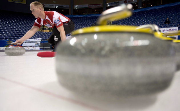 Team Canada skip Brad Jacobs (The Canadian Press)