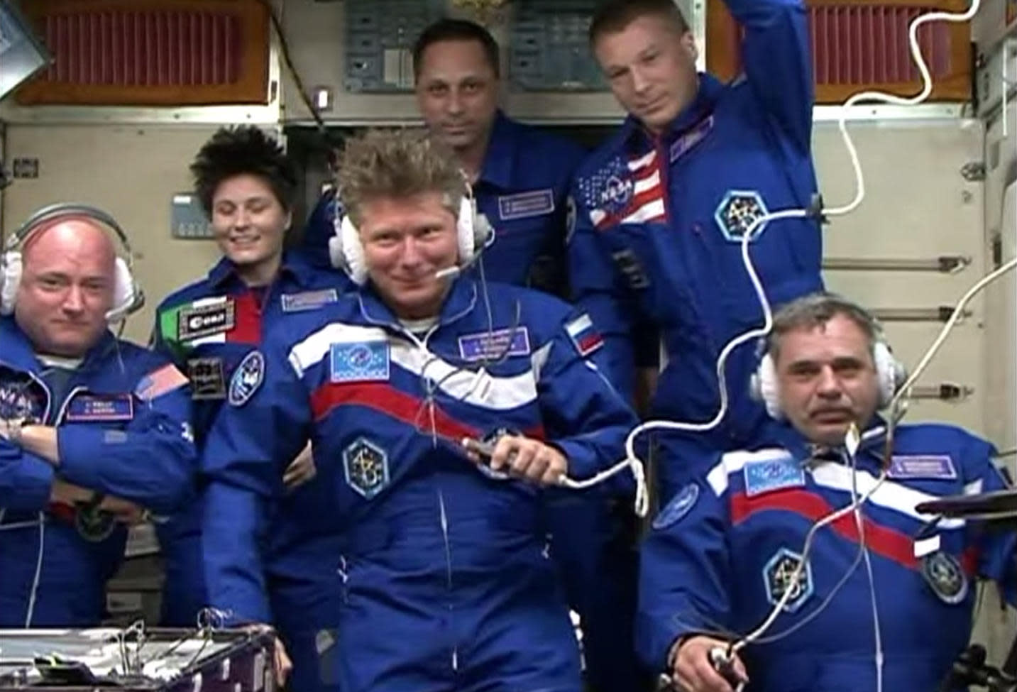See astronauts board the ISS for their year-long journey