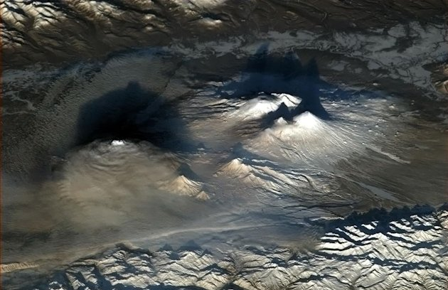'Volcanoes look dramatic at …
