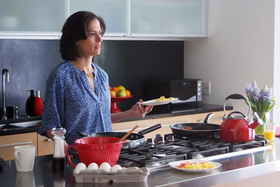 "This publicity image released by ABC shows Wendy Moniz in a scene from ""Betrayal,"" premiering Sunday, Sept. 29 at 10 p.m. EST. (AP Photo/ABC, Jean Whiteside)"