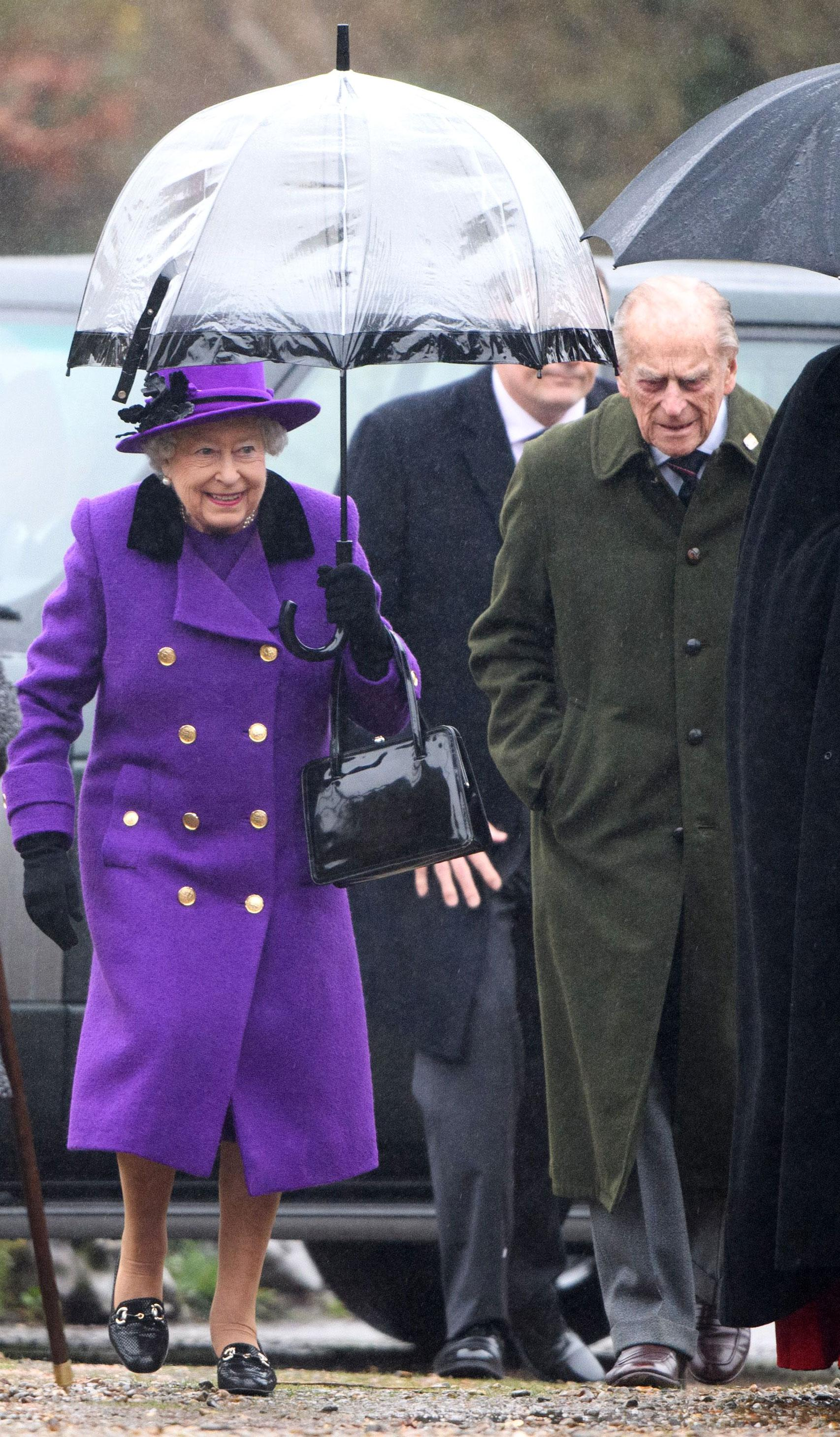 The Queen Joins Her Nephew at Church After Lord Snowdon's Death