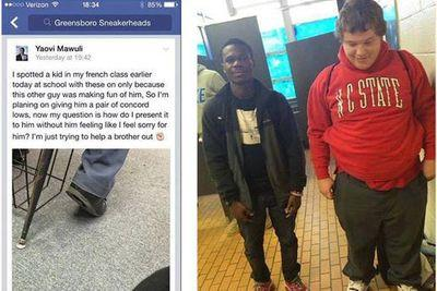 High school student gives classmate Air Jordans, shows the true holiday spirit