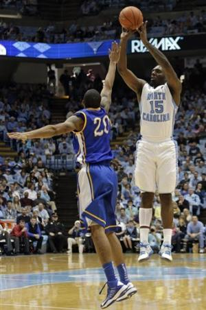 No. 23 North Carolina beats McNeese State 97-63
