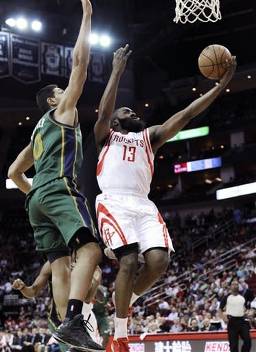 Rockets beat Jazz 100-93 to help playoff standing