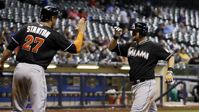 Homers by McGehee, Ozuna lift Marlins over Brewers