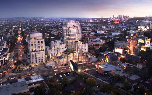 Rendering Reveal: First Look at Frank Gehry's Huge Project on the Sunset Strip