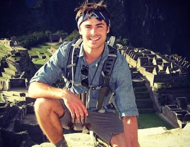 Zac Efron at Machu Picchu -- Instagram